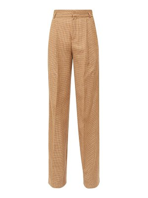 Chloe high-rise checked wool-twill flared trousers