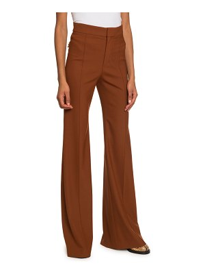 Chloe High-Rise Flare-Leg Pants