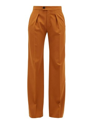 Chloe high-rise wide-leg wool-blend trousers