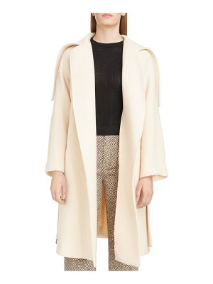 Chloe iconic exaggerated collar wool blend coat