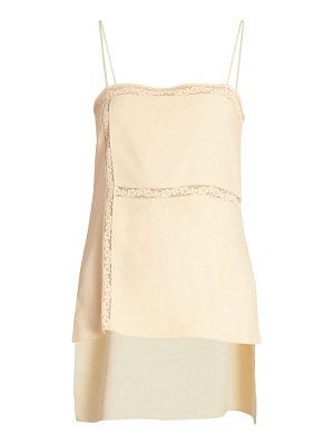 Chloe lace insert crepe camisole top