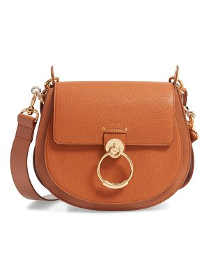 Chloe large tess grained lambskin leather shoulder bag