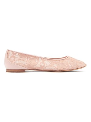 Chloe lauren logo-lace and leather ballerina flats
