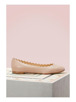 Chloe Lauren nappa sheepskin ballet pumps