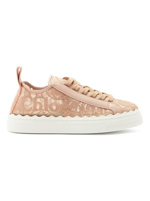 Chloe lauren scallop-edge logo-lace trainers