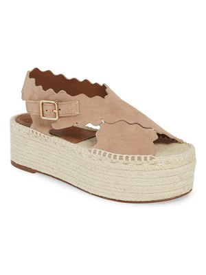 Chloe lauren scalloped flatform sandal