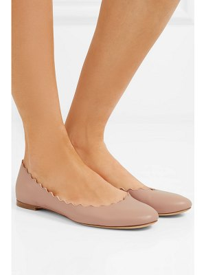 Chloe lauren scalloped leather ballet flats