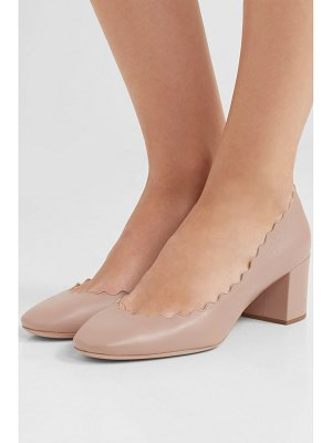 Chloe lauren scalloped leather pumps