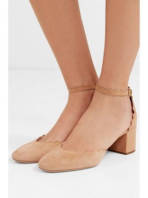 Chloe lauren scalloped suede pumps