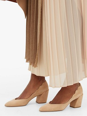 Chloe laurena 60 suede block heel pumps