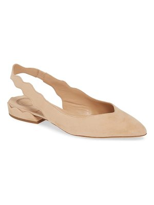 Chloe laurena scalloped slingback flat