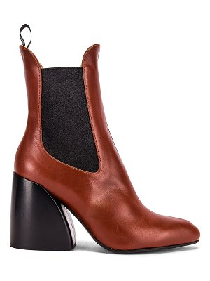 Chloe leather ankle booties