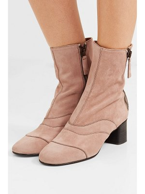 Chloe lexie crosta paneled suede ankle boots