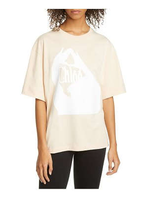 Chloe logo embroidered cotton tee
