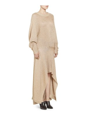 Chloe lurex rib knit long sleeve dress