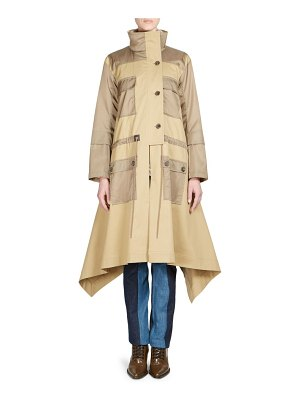 Chloe lux nylon two-tone parka