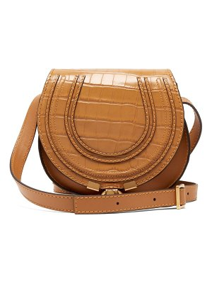 Chloe marcie mini croc-effect leather cross-body bag