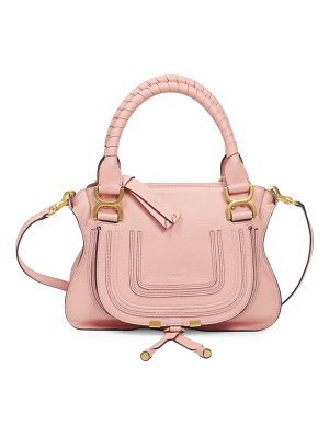 Chloe double handle marcie leather bag