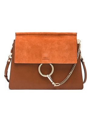 Chloe Medium Faye Suede & Calfskin Shoulder Bag