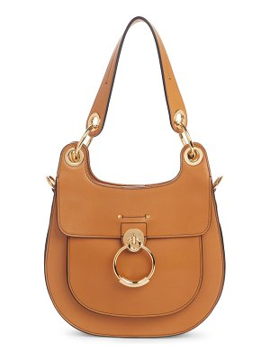 Chloe medium tess calfskin leather hobo bag