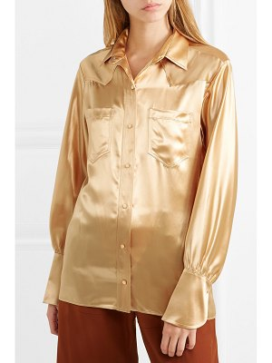 Chloe metallic satin blouse