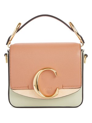 Chloe mini c tricolor convertible leather bag