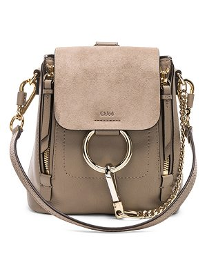 Chloe Mini Faye Calfskin & Suede Backpack
