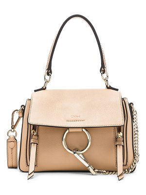Chloe Mini Faye Calfskin & Suede Day Bag