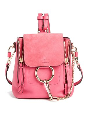 Chloe mini faye leather & suede backpack