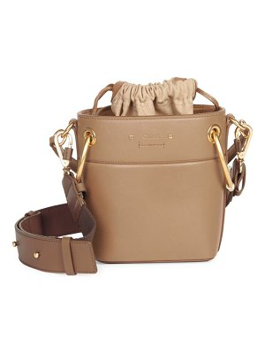 Chloe mini drawstring leather bucket bag