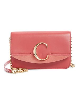 Chloe mini leather shoulder bag