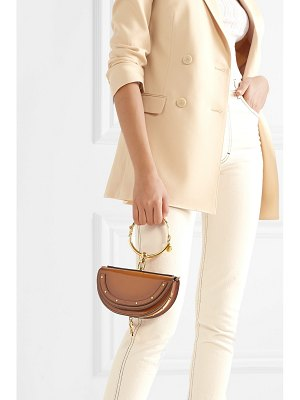 Chloe nile bracelet mini glossed-leather shoulder bag