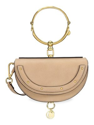 Chloe nile half moon leather minaudiere