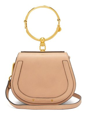 Chloe nile small leather and suede cross body bag