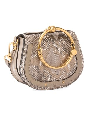CHLOE Nile Small Python Bracelet Crossbody Bag
