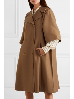 Chloe oversized double-breasted wool and silk-blend twill coat