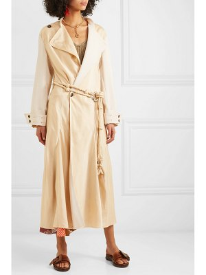 Chloe oversized paneled satin trench coat