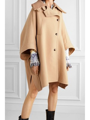 Chloe oversized wool and cashmere-blend cape