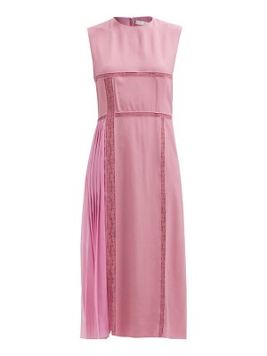 Chloe patchworked georgette and lace midi dress