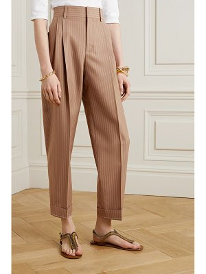 Chloe pinstriped wool tapered pants