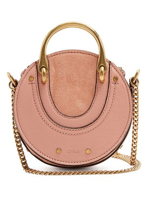 Chloe Pixie mini leather and suede cross-body bag