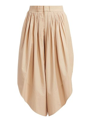 Chloe pleated angled trousers