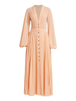 Chloe pleated long sleeve maxi dress