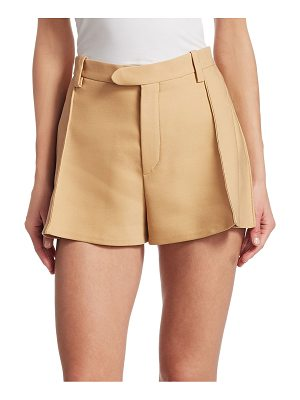 Chloe pleated wool shorts