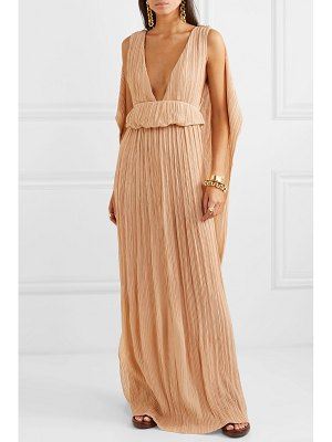 Chloe plissé-georgette maxi dress