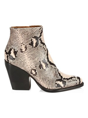 Chloe python print ankle boots