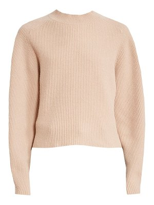 Chloe ribbed wool & cashmere mockneck sweater