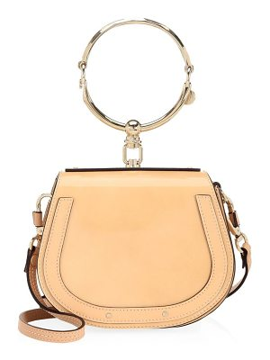 CHLOE Ring-Handle Leather Crossbody Bag