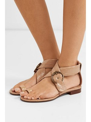 Chloe roy buckled croc-effect leather sandals