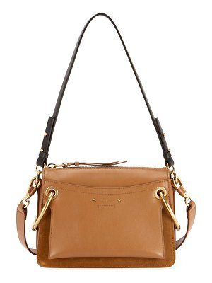 Chloe Roy Small Leather/Suede Satchel Bag
